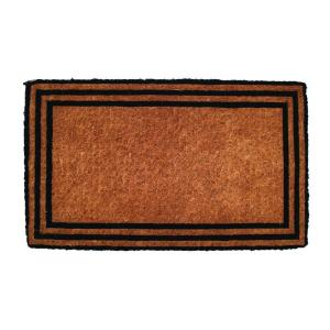 Entryways One with the Border 18 inch x 30 inch Extra Thick Hand Woven Coir Door Mat by Entryways