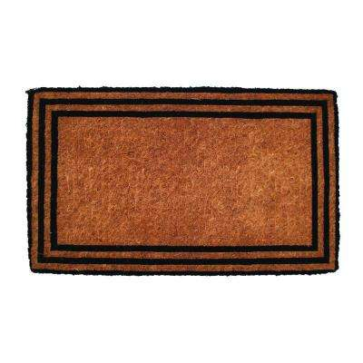 One with the Border 18 in. x 30 in. Extra Thick Hand Woven Coir Door Mat