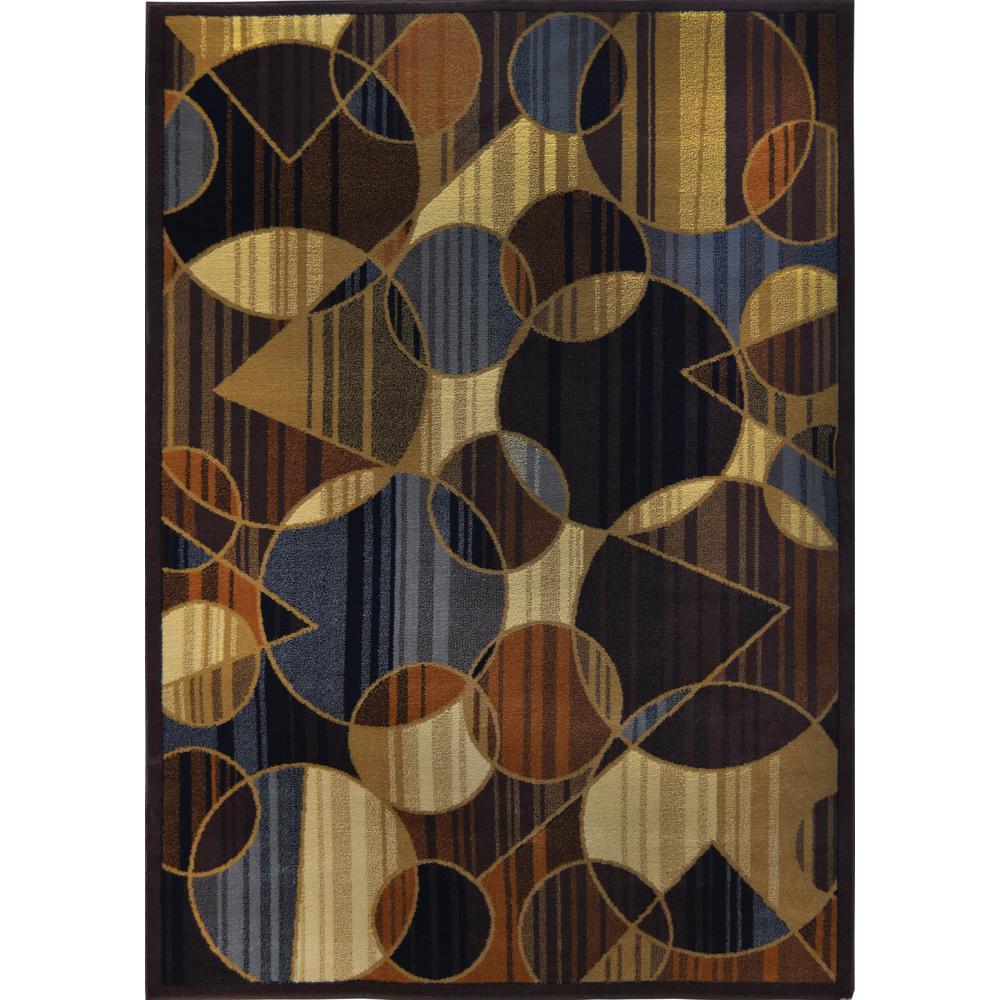 Royalty Brown/Blue 8 ft. x 10 ft. Indoor Area Rug
