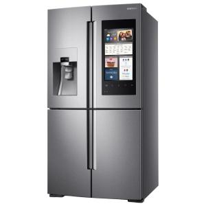 Click here to buy Samsung 27.9 cu. ft. Family Hub 4-Door Flex French Door Smart Refrigerator in Stainless Steel by Samsung.