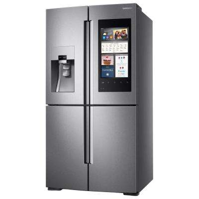 27.9 cu. ft. Family Hub 4-Door Flex French Door Smart Refrigerator in Stainless Steel