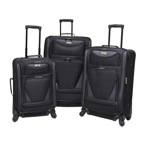 Skyview 2.0 3-Piece  Softside Vertical Rolling Luggage Set with Spinner Wheels