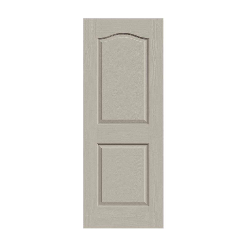 JELD-WEN 28 in. x 80 in. Princeton Desert Sand Painted Smooth Molded Composite MDF Interior Door Slab