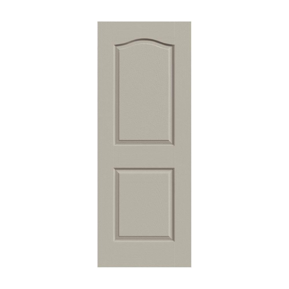JELD-WEN 30 in. x 80 in. Princeton Desert Sand Painted Smooth Molded Composite MDF Interior Door Slab