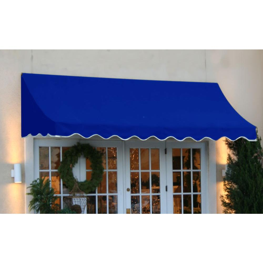 AWNTECH 12 ft. Nantucket Window/Entry Awning (56 in. H x 48 in. D) in. Bright Blue