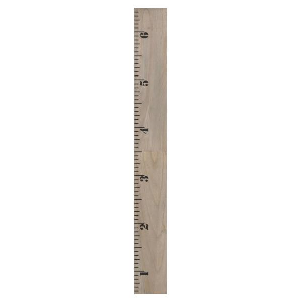 Gray 6.5 ft. Wooden Growth Chart
