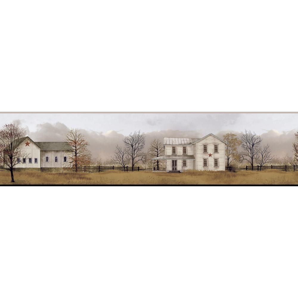York Wallcoverings Inspired By Color Peaceful Homestead Wallpaper Border
