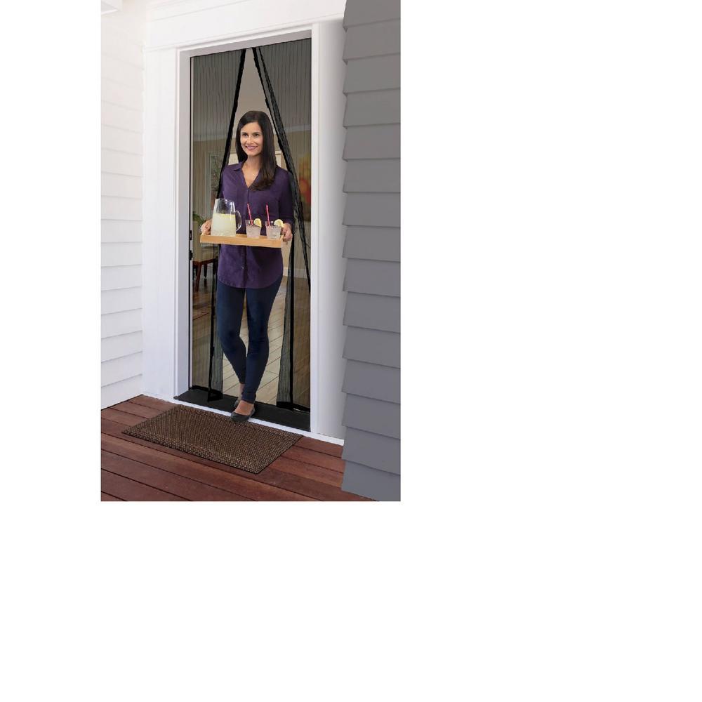 MAGZO Magnetic Screen Door 28 x 72 Durable Fiberglass Screen Doors with Magnets Heavy Duty Entry Front Back Door Screen with Full Frame Fit Door Size 28 x 72 Sliding Patio Screen Mesh Curtain Grey