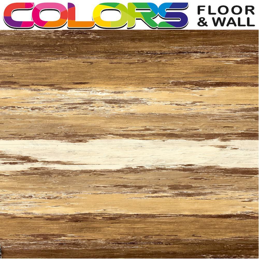 COLORS Vintage Flooring Old Brown Wood Aged Painted Restored Style Luxury Vinyl Plank 6 in. x 36 in. (45 sq. ft. / case)