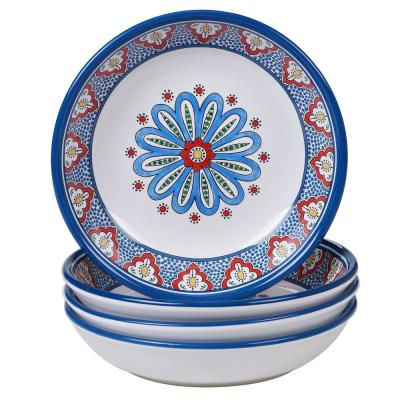 Tangier 4-Piece Multi-Colored 9 in. Soup/Pasta Bowl Set