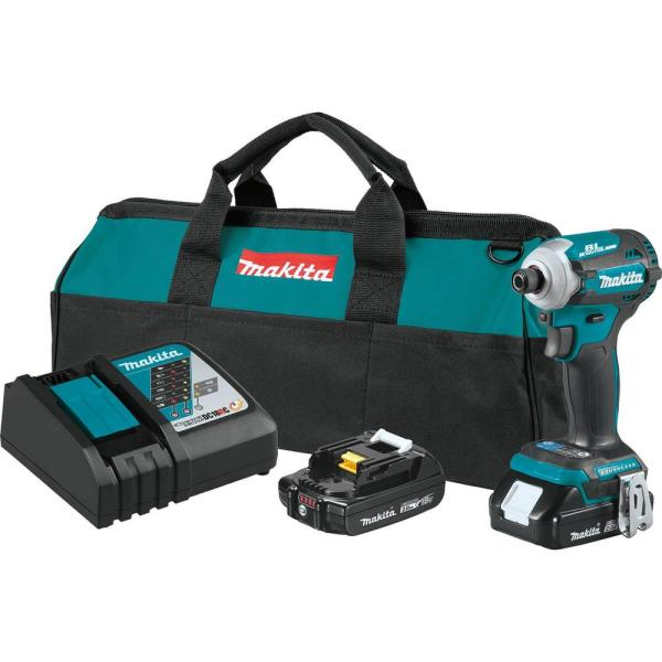18-Volt 2.0 Ah LXT Lithium-Ion Compact Brushless Cordless Quick-Shift Mode 4-Speed Impact Driver Kit