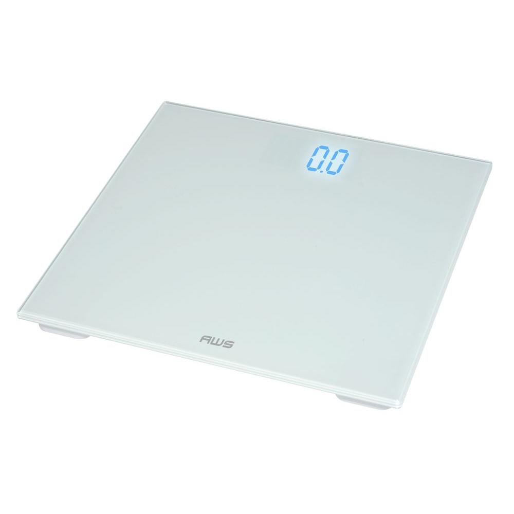 American Weigh Scales Digital Bathroom Scale In White