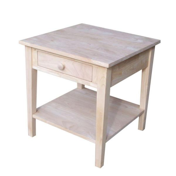 International Concepts Solano Unfinished End Table Ot 6e The Home Depot