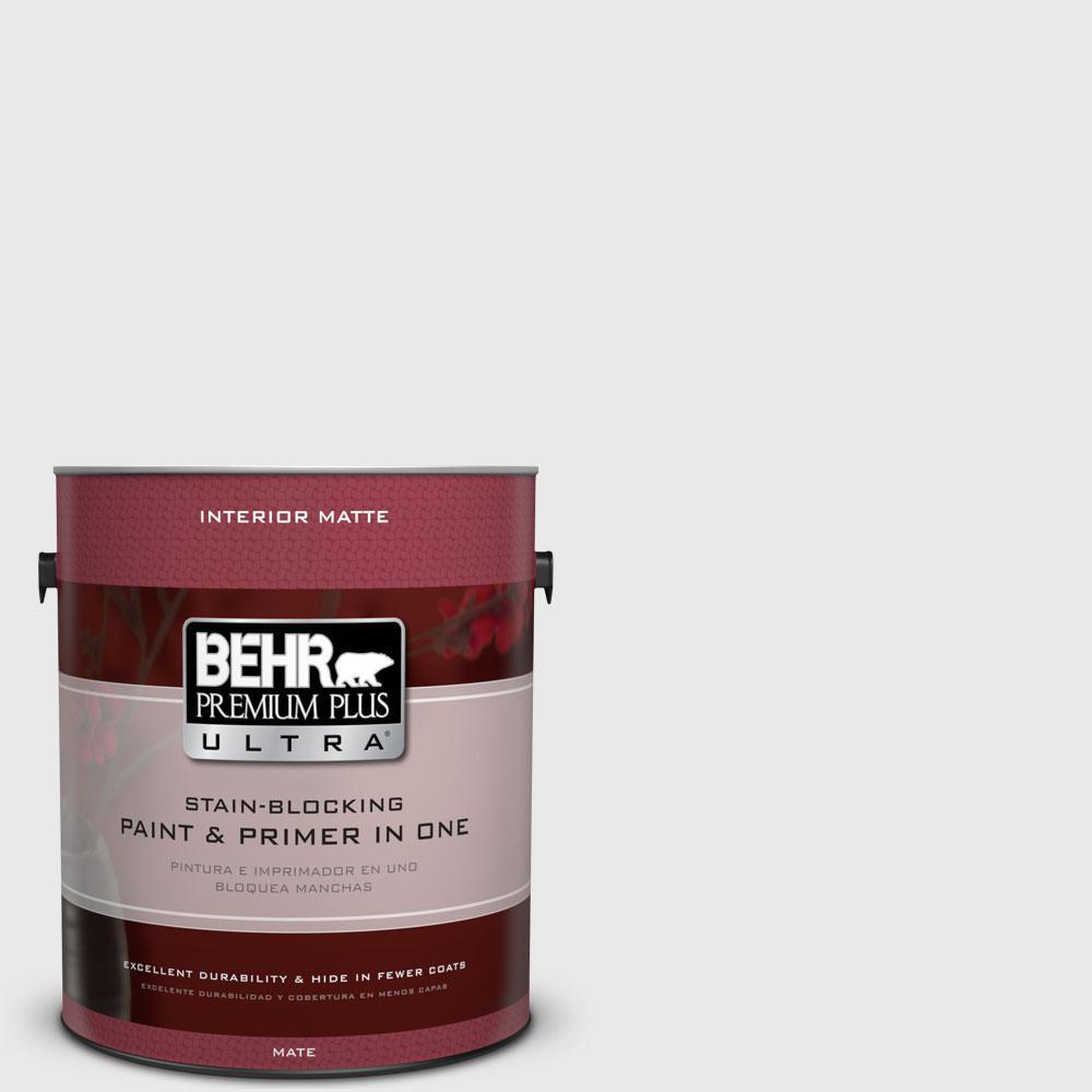 BEHR Premium Plus Ultra 1 gal. #PWN-44 Bay Breeze Flat/Matte Interior Paint