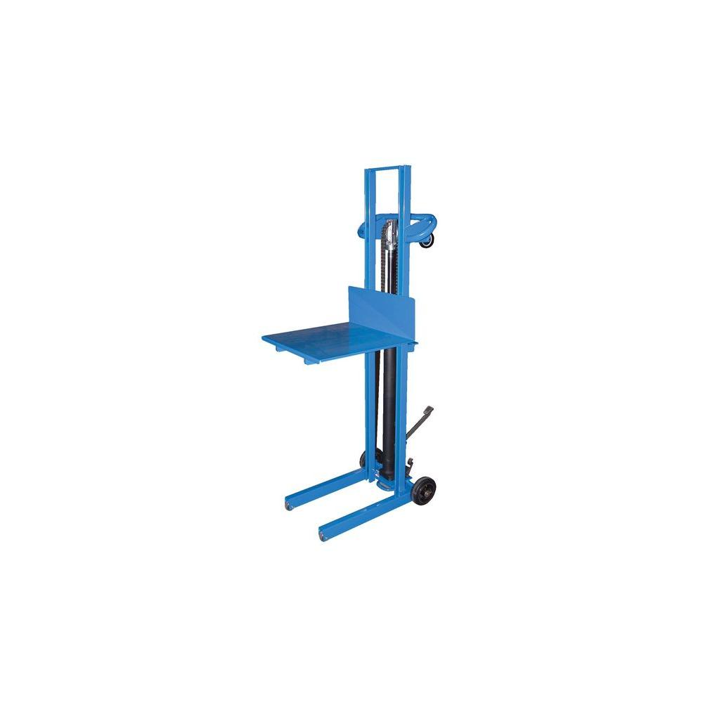 500 lb. Steel Foot Pump Lite Load Lift with Fixed Wheels