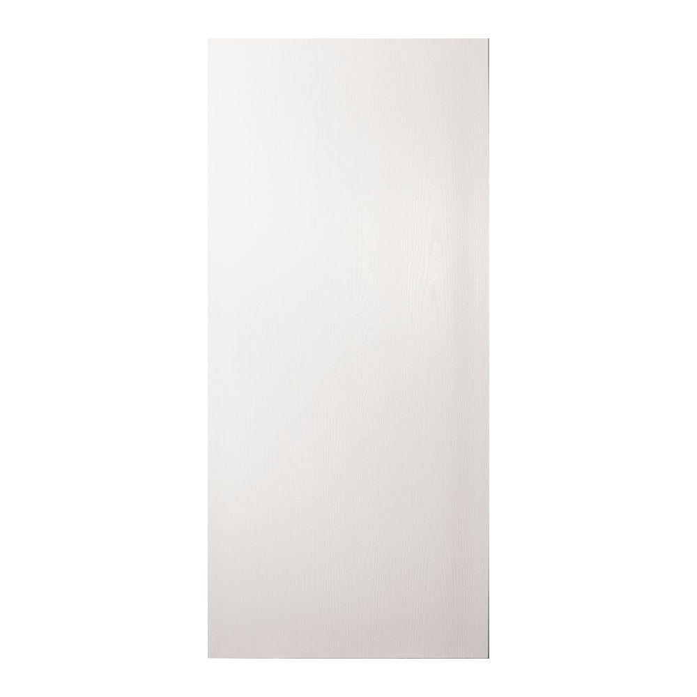 null 24 in. x 80 in. Unfinished Flush Hardwood Interior Door Slab