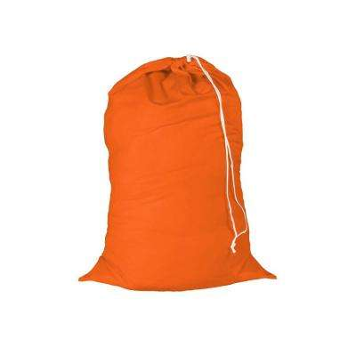 24 in. x 36 in. Orange Jersey Cotton Laundry Bag