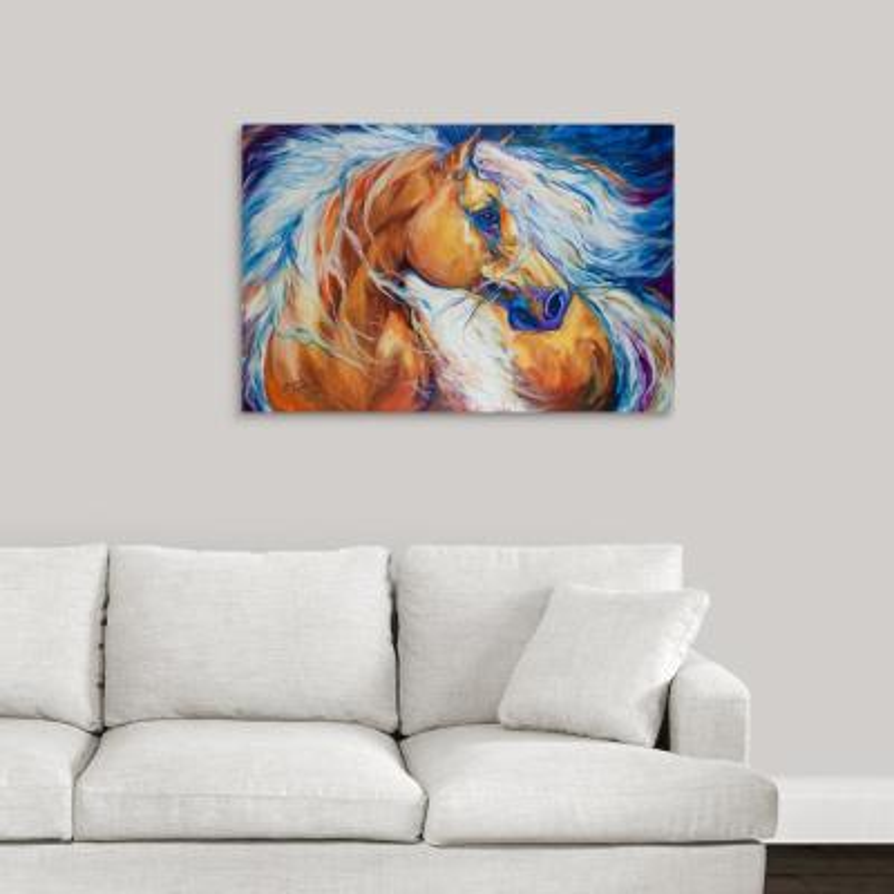 """Free Breeze Palomino"" by Marcia Baldwin Canvas Wall Art"