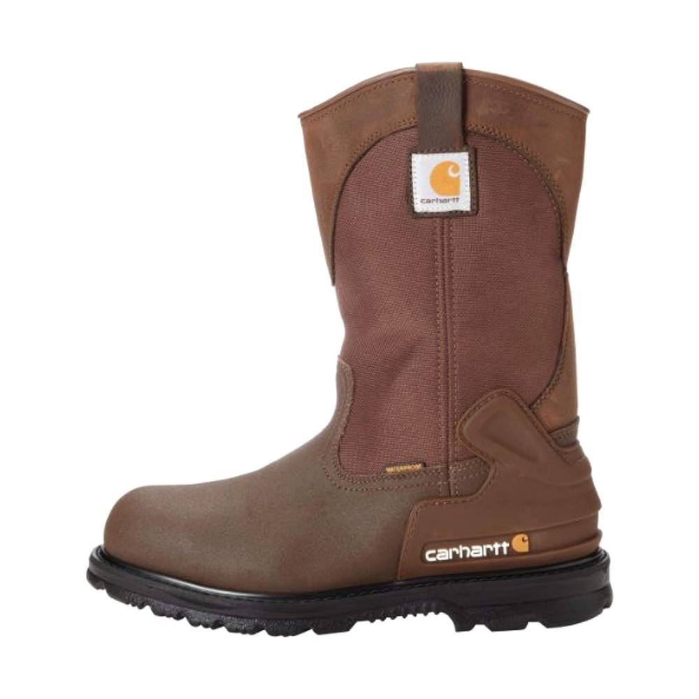 e465de44ed5 Carhartt Core Men's 08.5W Brn PU Coated Leather/Brn Fabric Waterproof Steel  Safety Toe 11 in. Work Boot