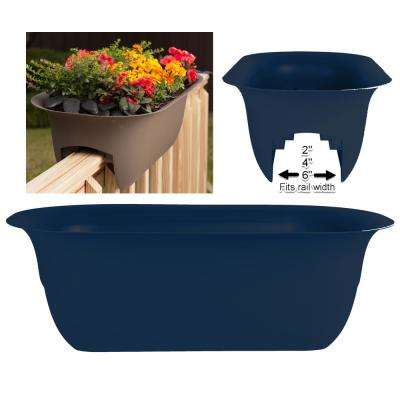 24 x 8.75 Deep Sea Modica Plastic Deck Rail Planter