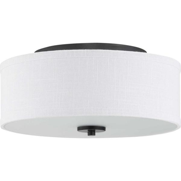 Inspire LED Collection Graphite Integrated LED Flush Mount