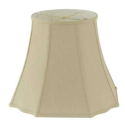 18 in. Dia x 15 in. H Taupe Linen Square Cut Bell Lamp Shade