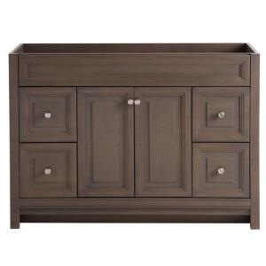 Home Decorators Collection Brinkhill 48 inch W Bath Vanity Cabinet Only in Flagstone by Home Decorators Collection