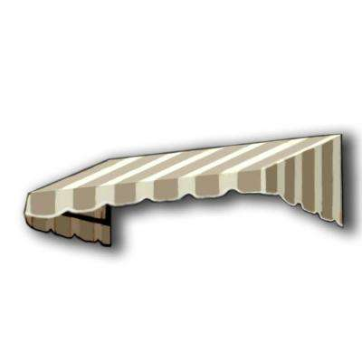 20 ft. San Francisco Window/Entry Awning (24 in. H x 48 in. D) in Linen/White Stripe