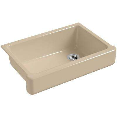 Whitehaven Farmhouse Apron-Front Cast Iron 33 in. Single Basin Kitchen Sink in Mexican Sand