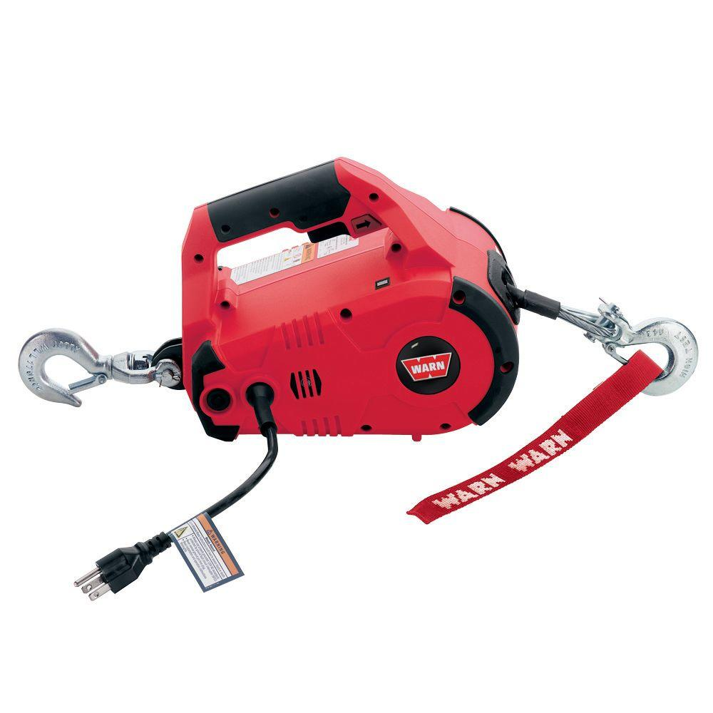 Winches Exterior Car Accessories The Home Depot Badland 12000 Lb Winch Wiring Diagram 110 Volt Ac Pullzall Hand Held Electric Portable Pulling And Lifting Tool