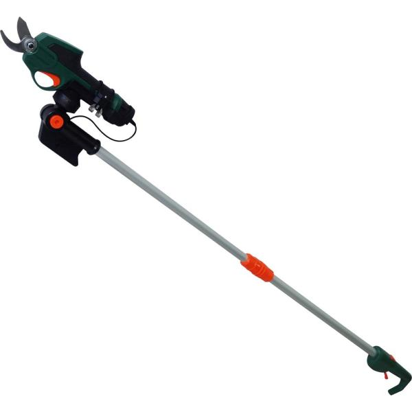 7.2-Volt Electric Cordless Telescoping Pole Pruner - 2 Ah Battery and Charger Included