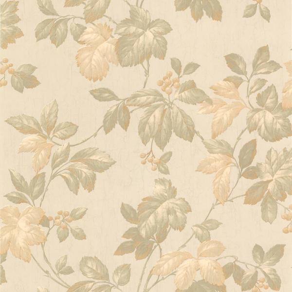 Brewster 56.4 sq. ft. Muscat Taupe Berry Trail Wallpaper 436-45114
