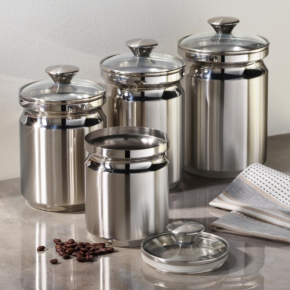 Surprising Tramontina Gourmet 4 Piece Stainless Steel Covered Canister Best Image Libraries Thycampuscom