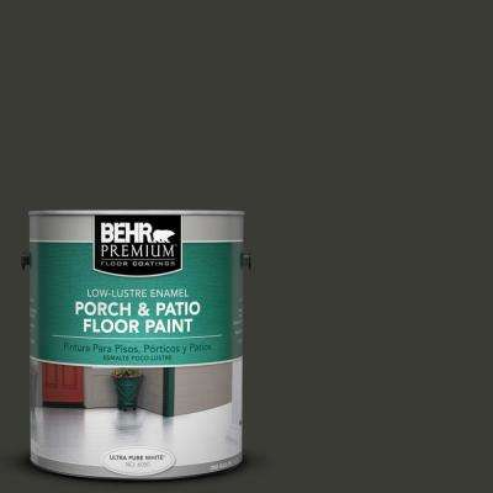 1 gal. #ECC-10-2 Jet Black Low-Lustre Interior/Exterior Porch and Patio Floor Paint