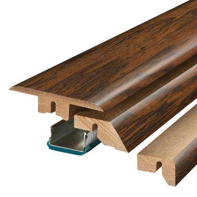 Franklin Lakes Hickory 3/4 in. Thick x 2-1/8 in. Wide x 78-3/4 in. Length Laminate 4-in-1 Molding