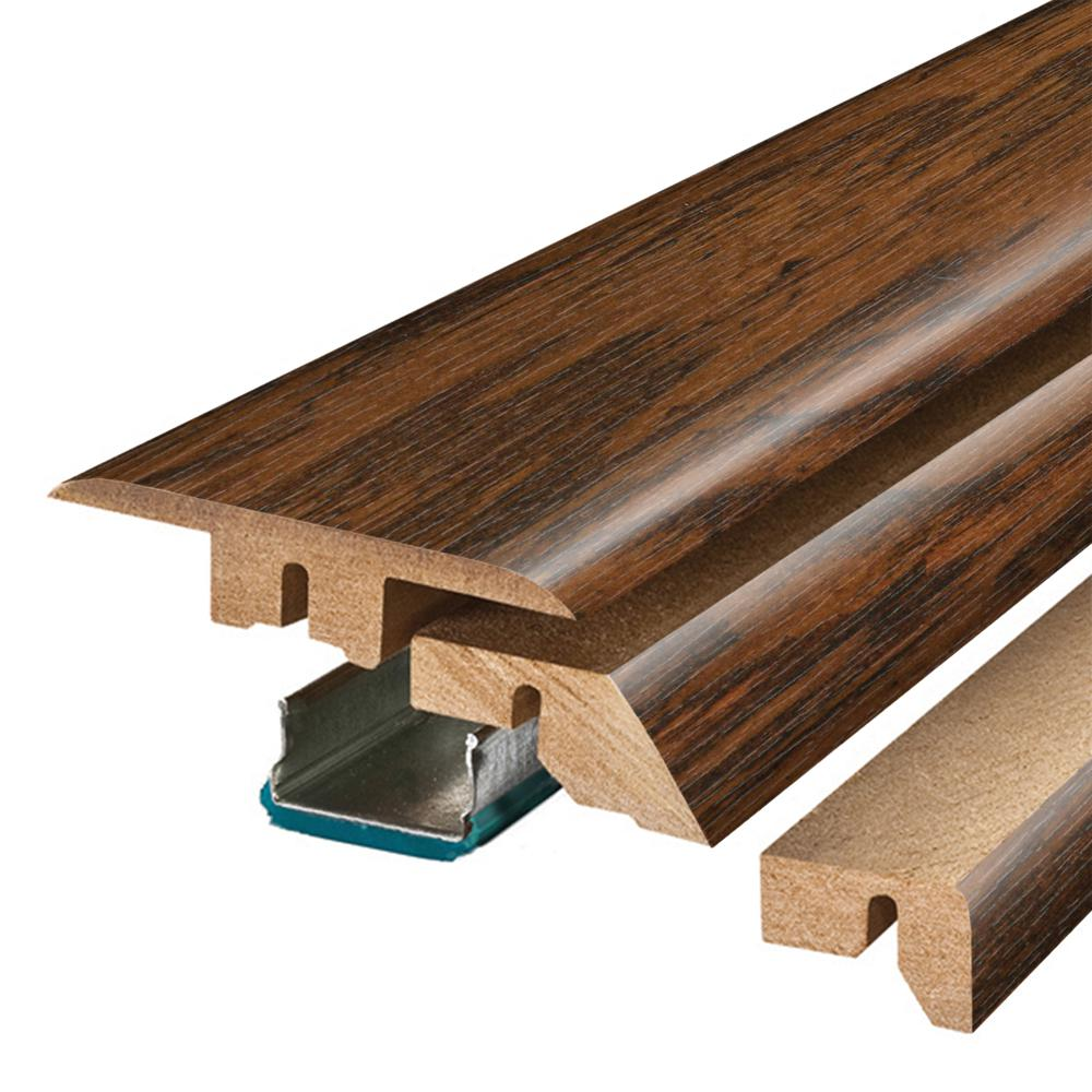 Pergo Franklin Lakes Hickory 3/4 in. Thick x 2-1/8 in. Wide x 78-3/4 in. Length Laminate 4-in-1 Molding