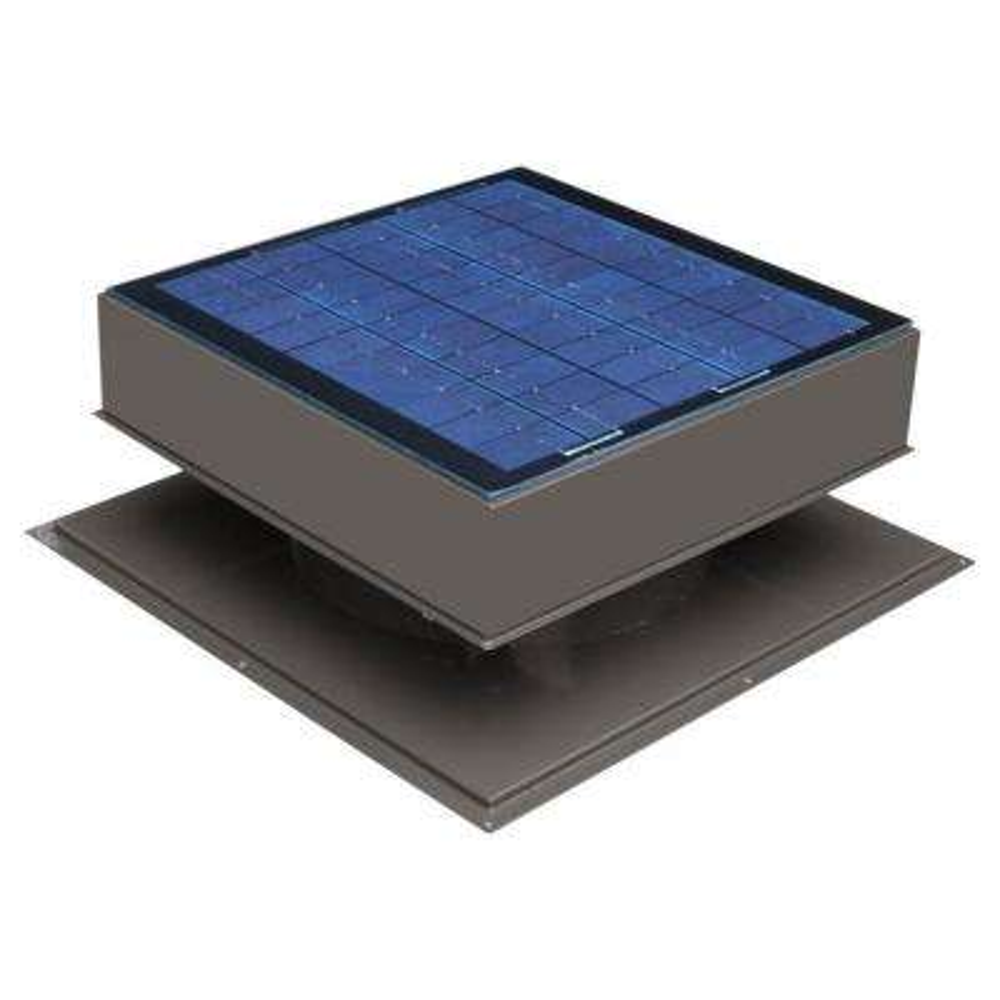 20-Watt 1280 CFM Gray Solar Powered Attic Fan