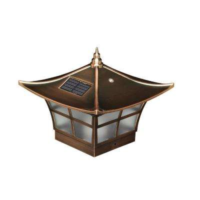 4 in. x 4 in. Copper Plated Ambience Outdoor Solar Post Cap (2-Pack)