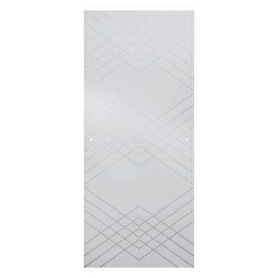 60 in. Sliding Shower Door Glass Panels in Argyle (1-Pair)