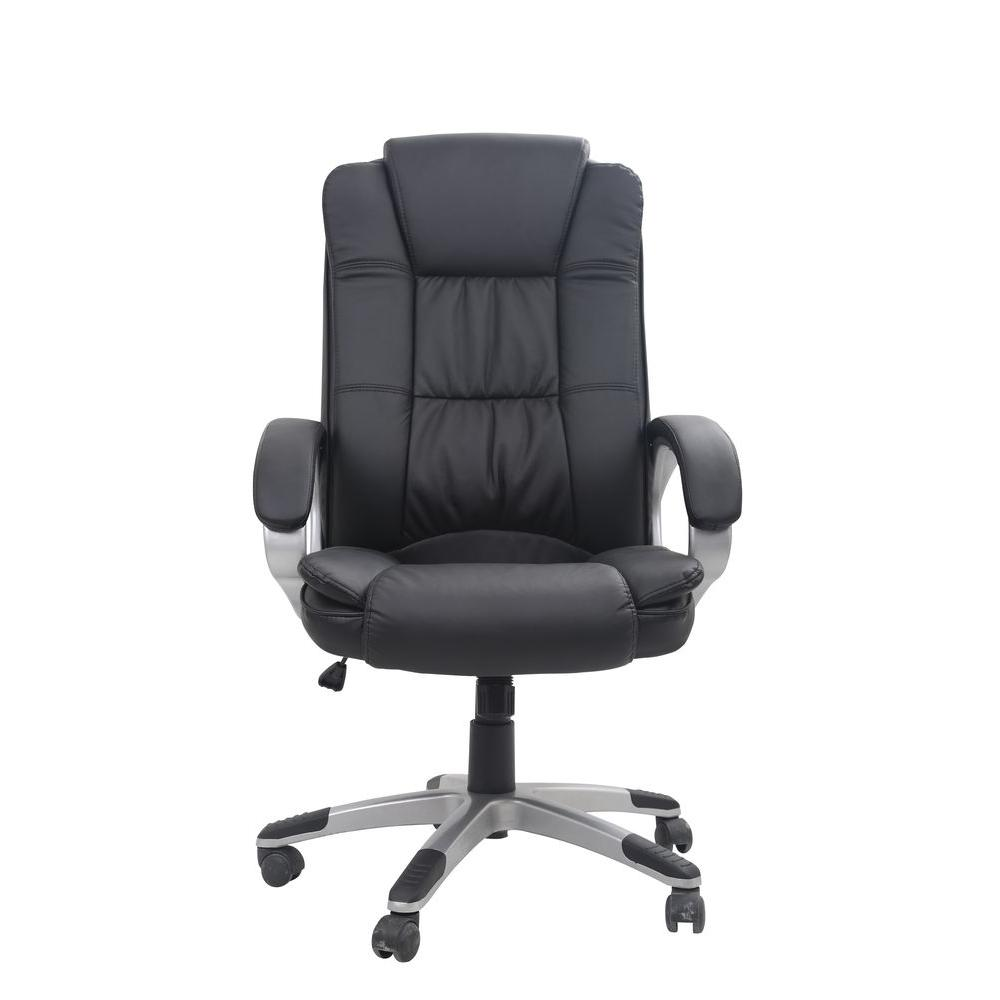 Clic Bonded Leather Executive Office Chair With Adjule Height Black
