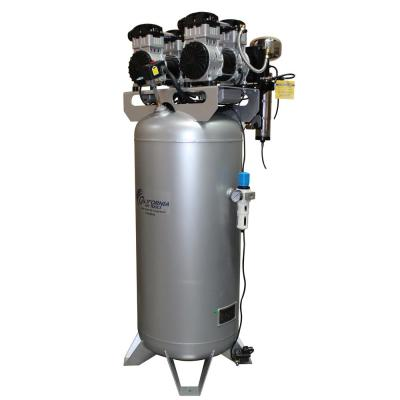 60 Gal. Stationary Ultra Quiet, Oil-Free 4.0 HP Electric Air Compressor with Air Drying System and Automatic Drain Valve