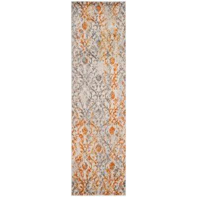 Madison Cream/Orange 2 ft. x 10 ft. Runner Rug