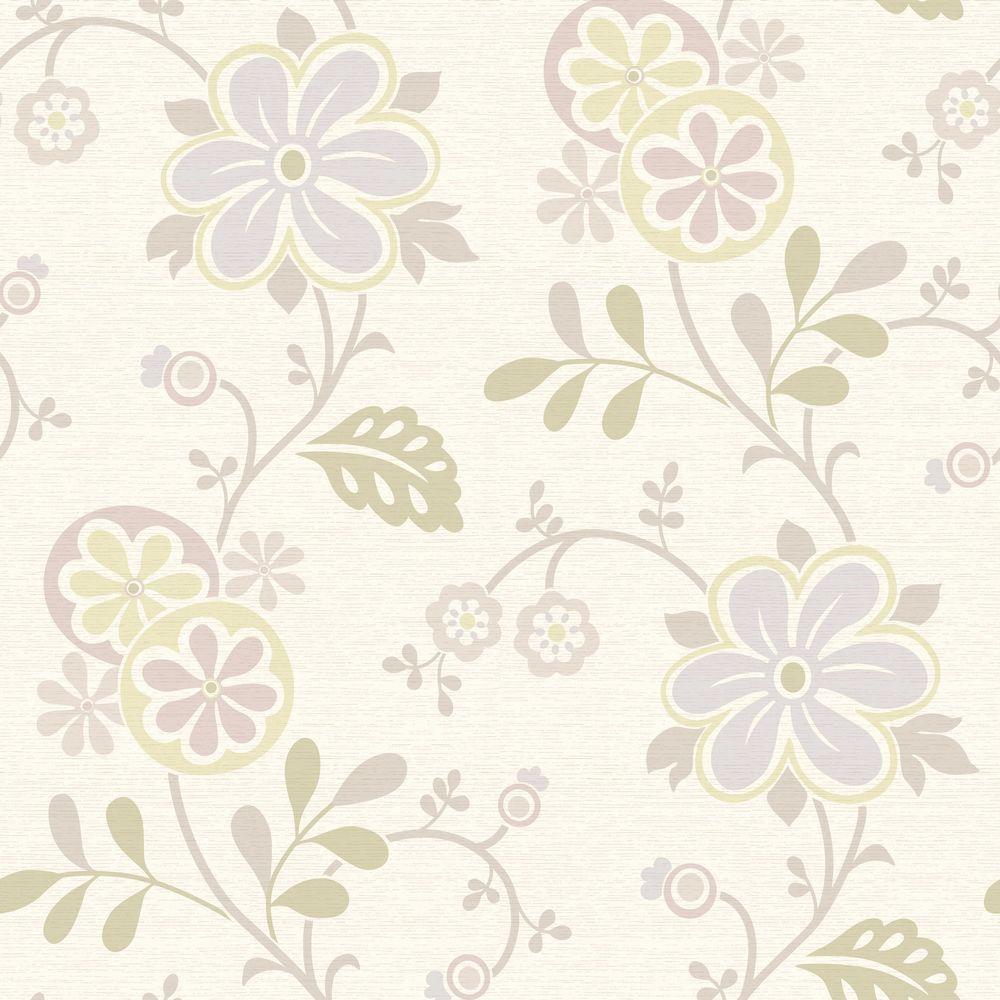 Beacon House Imperial Lavender Modern Damask Wallpaper 2535 20624