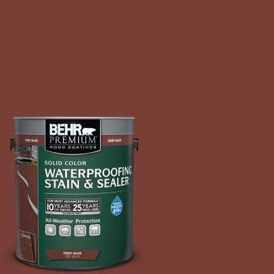 1 gal. #PPU2-2 Red Pepper Solid Waterproofing Stain and Sealer