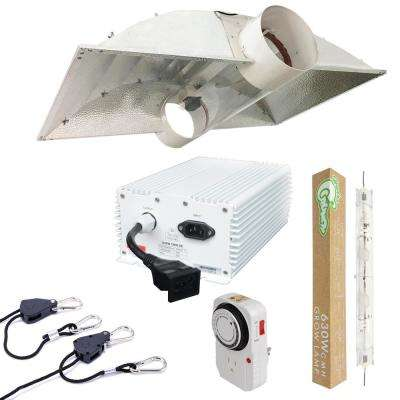 630-Watt DE CMH Ceramic Metal Halide Grow Light System with Double Ended 8 in. Cool Tube Hood Reflector