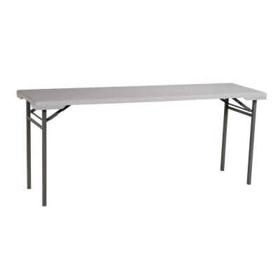 Multi-Purpose Light Gray Resin Training Table