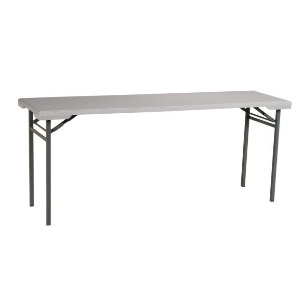 Office Star Products Multi-Purpose Light Gray Resin Training Table