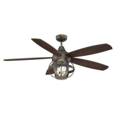 Aumbrie 52 in. Reclaimed Wood Indoor/Outdoor Ceiling Fan