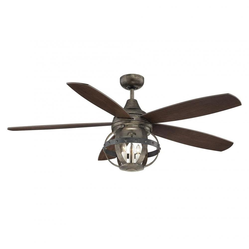 Illumine Aumbrie 52 in. Reclaimed Wood Indoor/Outdoor Ceiling Fan