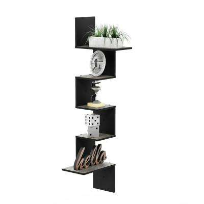 Rossi Modern 13 in. x 13 in. x 49 in. French Oak Grey Wood Decorative Wall Shelf